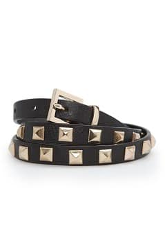 Studded slim belt