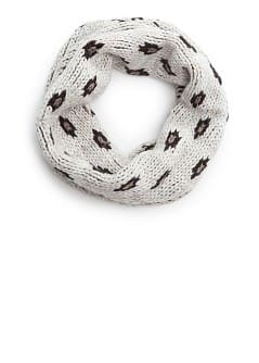 Leopard pattern knit snood