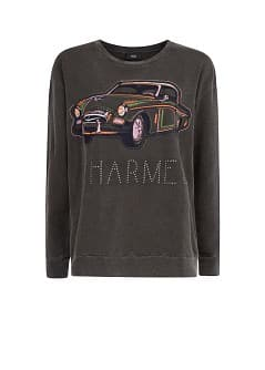 Embroidered car sweatshirt