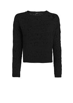 Openwork cotton-blend sweater