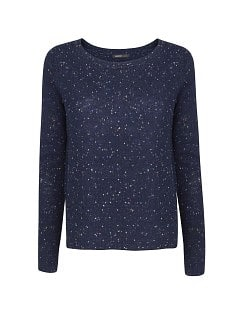 Mini studded wool-blend sweater