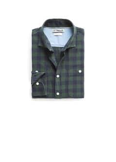 Gingham check slim-fit shirt