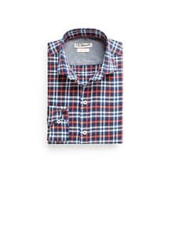 Slim-fit herringbone check shirt