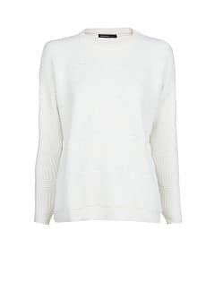 Cotton-blend jacquard sweater