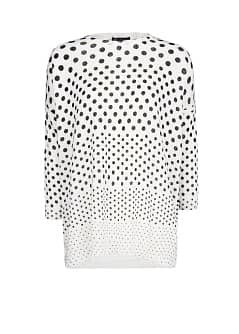 Polka-dot wool-blend sweater