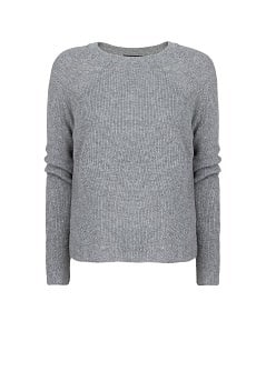 Ribbed angora-blend sweater