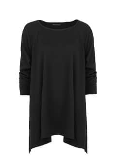 Asymmetric hem oversize sweater