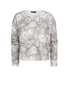 Pull-over court imprimé floral