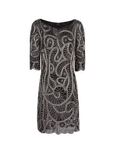 Metallic bead dress