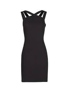 Crisscross strap dress