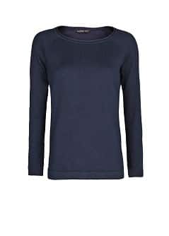 Raglan sleeve cotton-blend sweater