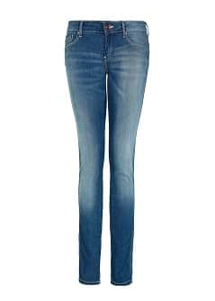 SLIM-FIT PUSH-UP VINTAGE WASH JEANS