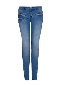 Zip super slim-fit jeans