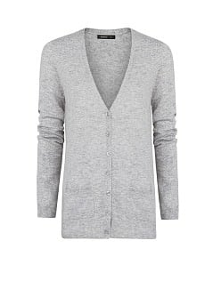 Wool cotton-blend cardigan