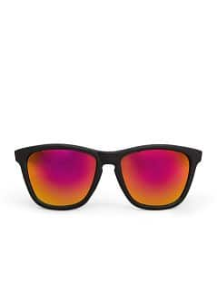 Mirrored lens squared sunglasses