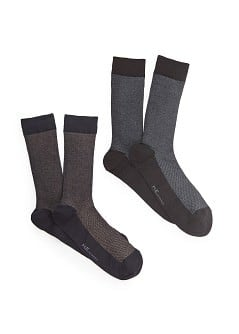 2 pack two-tone socks