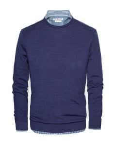 Elbow patch wool sweater