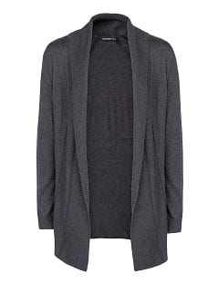 Ribbed flap cardigan