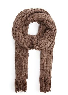 Metallic detail knit scarf