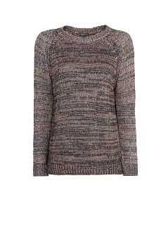 Metallic detail flecked sweater