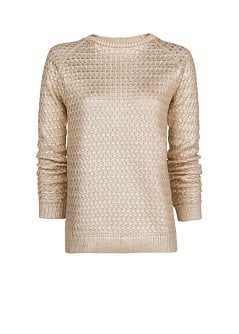 Textured metallic sweater