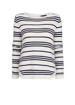 Angora wool-blend striped sweater