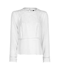 Blouse empiècements guipure