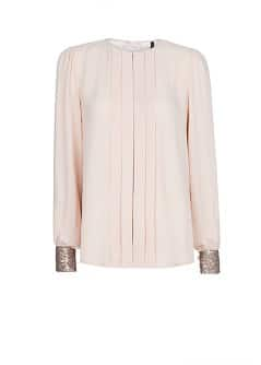 Sequined pleated blouse