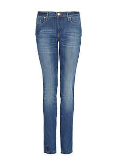 Slim-fit push-up dark wash jeans