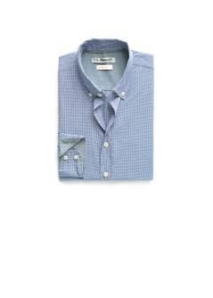Slim-fit micro gingham check