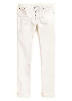 SLIM-FIT OFF WHITE TIM JEANS