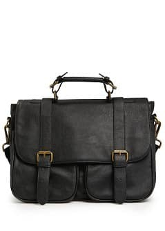 Buckle satchel bag