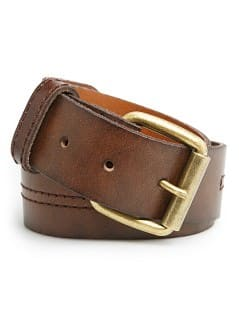 DECORATIVE STITCHING LEATHER BELT