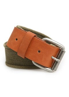 WASHED EFFECT CANVAS BELT