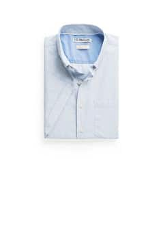 SLIM-FIT SHORT SLEEVED END-ON-END SHIRT
