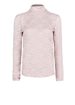 CHIFFON PANELS LACE T-SHIRT