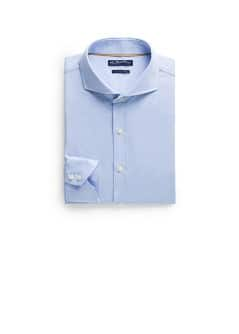 Slim-fit Premium herringbone cotton shirt