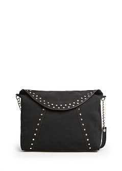 STUDDED TOTE FLAP BAG