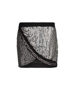 Beaded wrap miniskirt