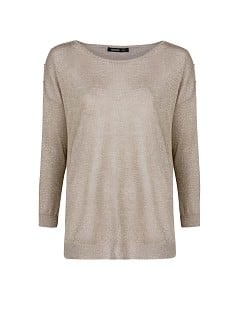 Metallic loose-fit sweater