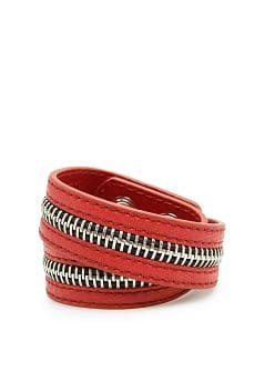 Zip detail double cuff