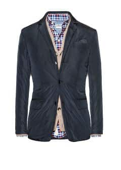 Padded technical blazer