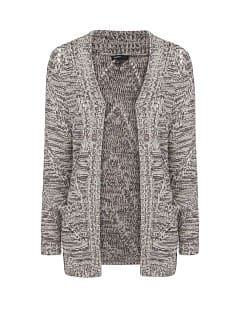 Flecked chunky knit cardigan