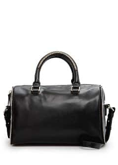 Zip detail bowling bag
