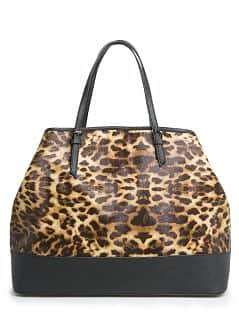 Leopard print shopper bag