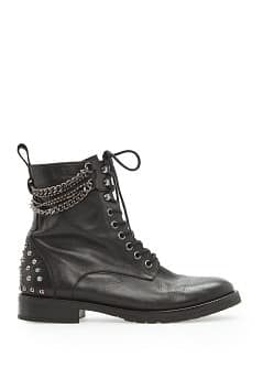 Rocker leather ankle boots