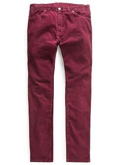 Pantalon slim-fit 5P velours côtelé