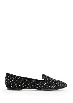Slipper camoscio strass