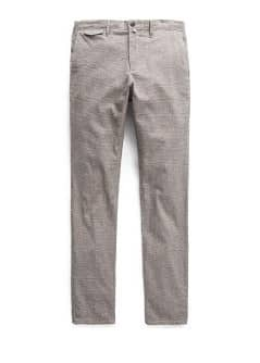 Chino straight-fit Prince de Galles