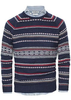Fairisle-Pulli aus Woll-Mix
